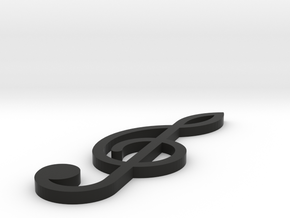 [1DAY_1CAD] TREBLE CLEF in Black Premium Versatile Plastic