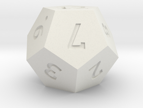 D12 Precision in White Natural Versatile Plastic