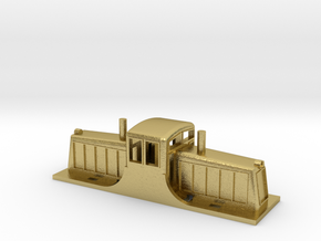 GE 44 Ton Switcher in Natural Brass