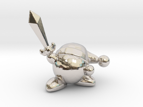 Kirby with Sword 1/60 miniature for games and rpg in Platinum