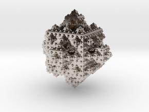 Infinite cubes 2 in Rhodium Plated Brass