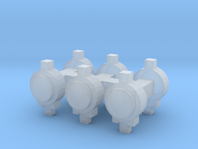 Tail Lamps x6 (N Scale) in Smooth Fine Detail Plastic