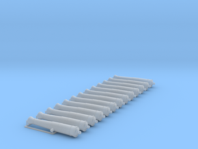 1/72 Canons de 12£ -1766- X13 in Smooth Fine Detail Plastic