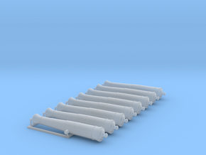 1/48 Canons de 6£ -1766- X8 in Smooth Fine Detail Plastic