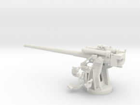 1/72 IJN Type 10 120mm Dual Purpose Gun in White Natural Versatile Plastic