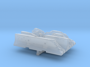 Damaged Jersey barrier (x4) 1/100 in Smooth Fine Detail Plastic