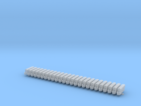 Road Barrier plastic curved Set in Smoothest Fine Detail Plastic: 1:200