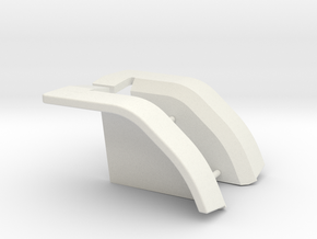 Custom fenders for use on pulling tractor in White Natural Versatile Plastic