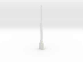 1:22,5 1558 BVL-mast met KIR KIK sokkel dubbel in White Natural Versatile Plastic