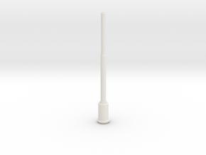 1:22,5 1562 BVL-mast met ronde sokkel (zelfbouw) in White Natural Versatile Plastic