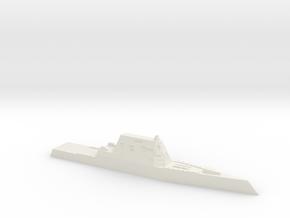 CG(X) w/ Zumwalt hull, 1/1800 in White Natural Versatile Plastic