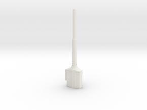 1:22,5 1564 Bovenleidingmast met voedingssokkel in White Natural Versatile Plastic