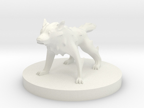 Wolf - Wolf in White Natural Versatile Plastic