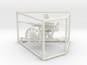 1/56 IJA Type 98 20mm anti-aircraft gun in White Natural Versatile Plastic