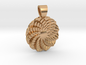 Succulent  [pendant] in Polished Bronze