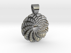 Succulent  [pendant] in Polished Silver