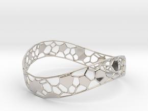 Bracelet in Rhodium Plated Brass