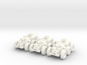 6mm Outrunner - Battle Transport in White Processed Versatile Plastic