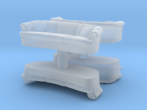 Sofa (4 pieces) 1/87 in Smooth Fine Detail Plastic