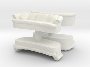 Sofa (4 pieces) 1/56 in White Natural Versatile Plastic