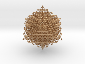 512 Tetrahedron Grid in Polished Bronze