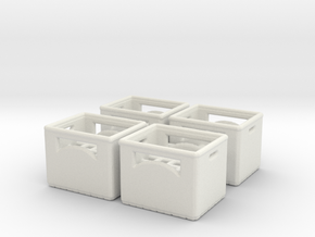 Bottle crate (4 pieces) 1/43 in White Natural Versatile Plastic
