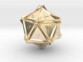 Dice: D20 edition2 in 14K Yellow Gold