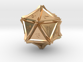 Dice: D20 edition2 in Polished Bronze