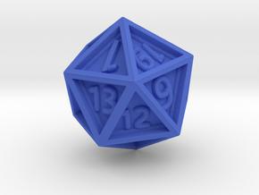 Dice: D20 edition 4 in Blue Processed Versatile Plastic