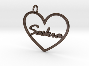 "Key Tag ""Saskia"" in Polished Bronze Steel"