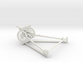 1/56 IJA Type 94 75mm Mountain Gun in White Natural Versatile Plastic