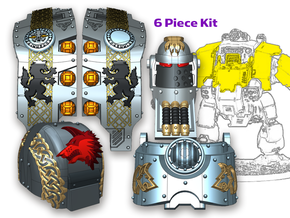 Norse Wolf:  Full Atlas Pattern Kit in Smooth Fine Detail Plastic