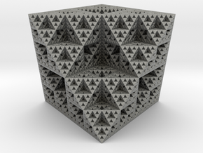 Fractal Ornament 4 in Gray PA12