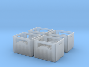 Bottle crate (4 pieces) 1/72 in Smooth Fine Detail Plastic