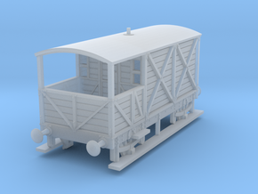 a-148fs-gwr-kesr-1886-brake-van in Smooth Fine Detail Plastic