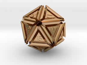 Dice: D20 edition 5 in Polished Bronze