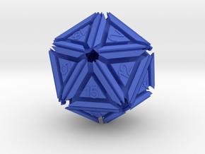 Dice: D20 edition 5 in Blue Processed Versatile Plastic