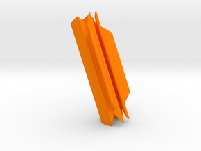 "Cape Dory Typhoon (feed slot = 2 27/32"" x 9/16"") in Orange Processed Versatile Plastic"