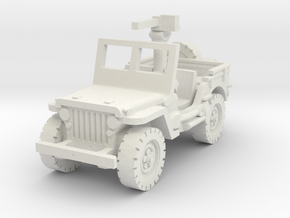 Jeep willys 30 cal (window up) 1/56 in White Natural Versatile Plastic
