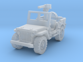 Jeep willys 30 cal (window up) 1/285 in Smooth Fine Detail Plastic