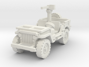 Jeep Willys 30 cal (window down) 1/76 in White Natural Versatile Plastic