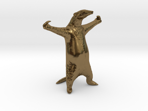 Golden Anteater - Come at me bro! in Polished Bronze