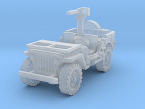 Jeep Willys 30 cal (window down) 1/285 in Smooth Fine Detail Plastic
