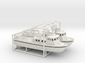 2 X 1/200 PCF Swift Boat in White Natural Versatile Plastic