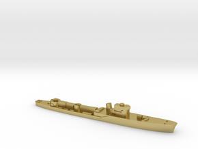 Italian Pegaso WW2 torpedo boat 1:1800 in Natural Brass