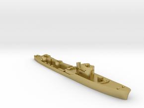 Italian Procione WW2 torpedo boat 1:1800 in Natural Brass