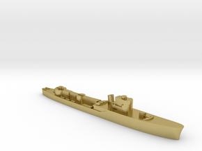 Italian Procione WW2 torpedo boat 1:2400 in Natural Brass