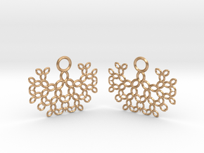 Earrings in Natural Bronze