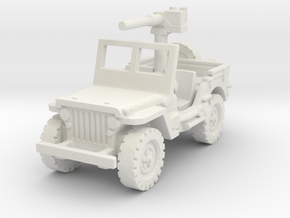 Jeep Willys 50 cal (window up) 1/100 in White Natural Versatile Plastic