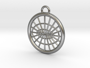 Meshed Airfoil Pendant in Natural Silver